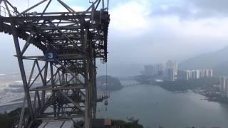 香港の長大ロープウェイ前面展望 ゴンピン360 昂坪 → 東涌