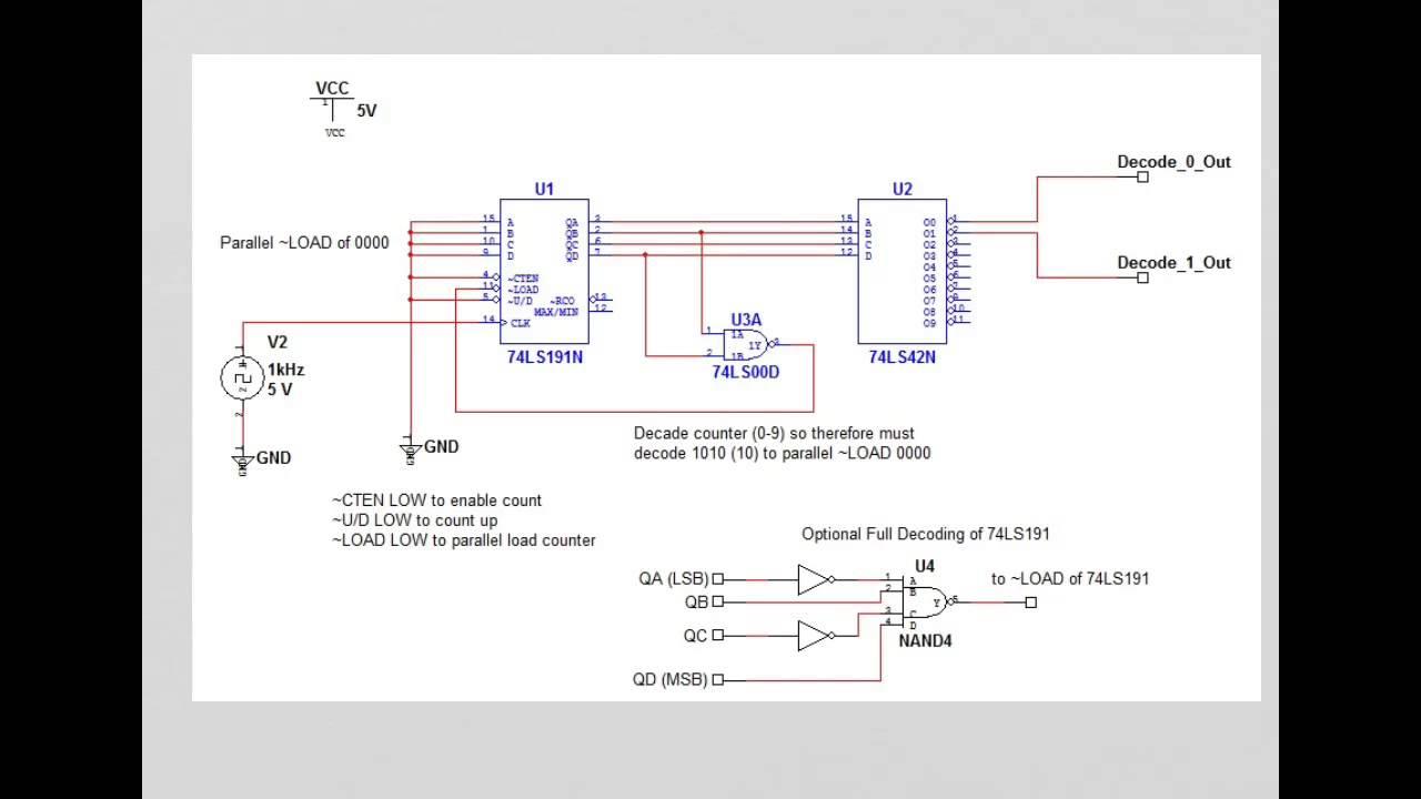 Counter Circuit Schematic