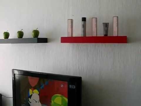 repisas minimalista flotantes decorativas