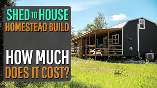 How Much Does it Cost to Convert a Shed into a House (rough estimate)