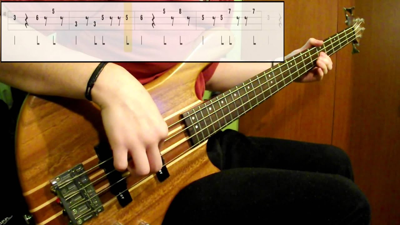 Red hot chili peppers around the world bass cover play along tabs in video youtube