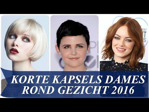 Korte Kapsels Dames Rond Gezicht 2016