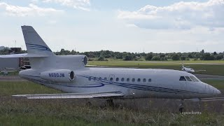 Falcon 900EX N600JM - Landing Direct form Seattle USA - Departure - Gloucestershire Airport