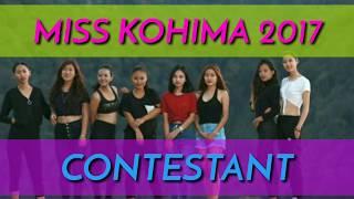 MISS KOHIMA 2017 CONTESTANTS