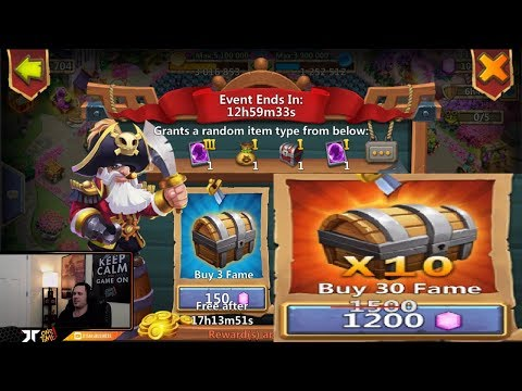 Pirate BOOTY Prime Hero Card 3 PLEASE 20 Tries Android Castle Clash