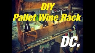 DC. Pallet Wine Rack