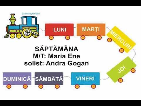 SĂPTĂMÂNA – Cantece pentru copii in limba romana