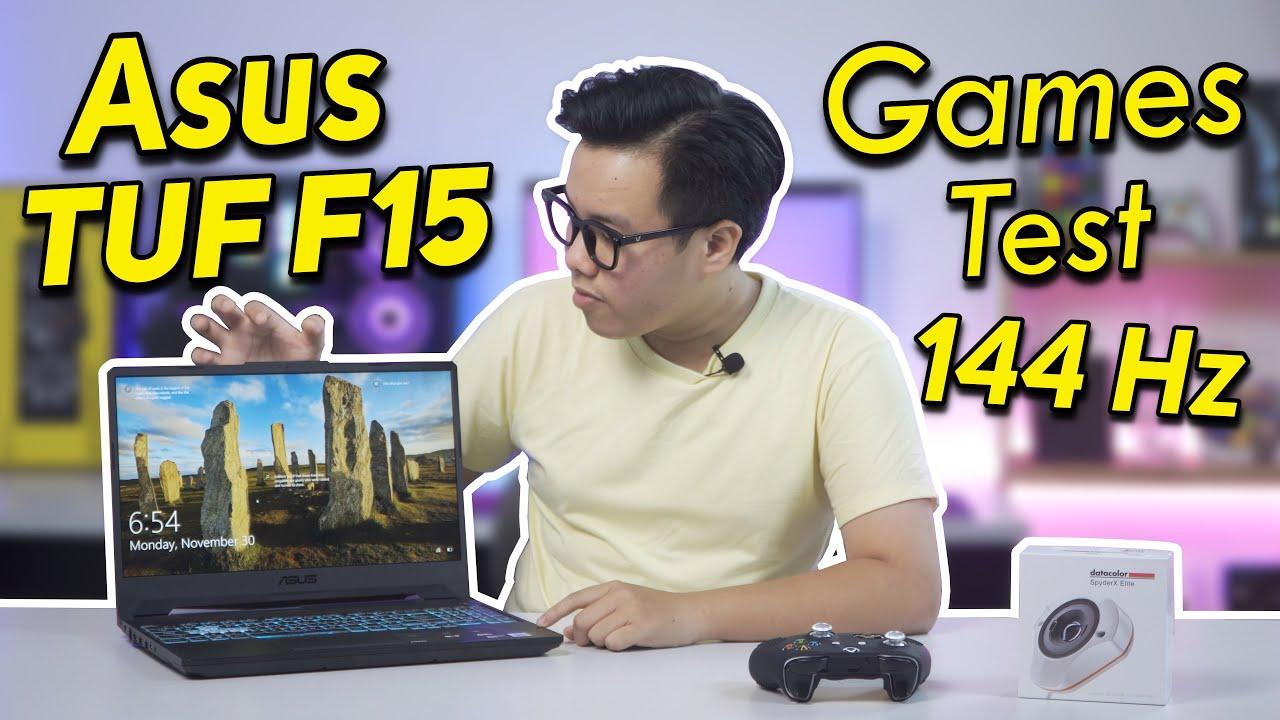 Download (GAME TEST) ASUS TUF F15 (FX506): i5-10300H | GTX 1650Ti Cấu Hình Tốt - Hiệu Năng Cao