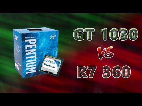 GT 1030 VS R7 360 (G4560) 11 Games (1080p) Benchmarks