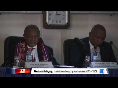 INFO K MADA Akademia malagasy DU 01 NOVEMBRE 2019 BY KOLO TV