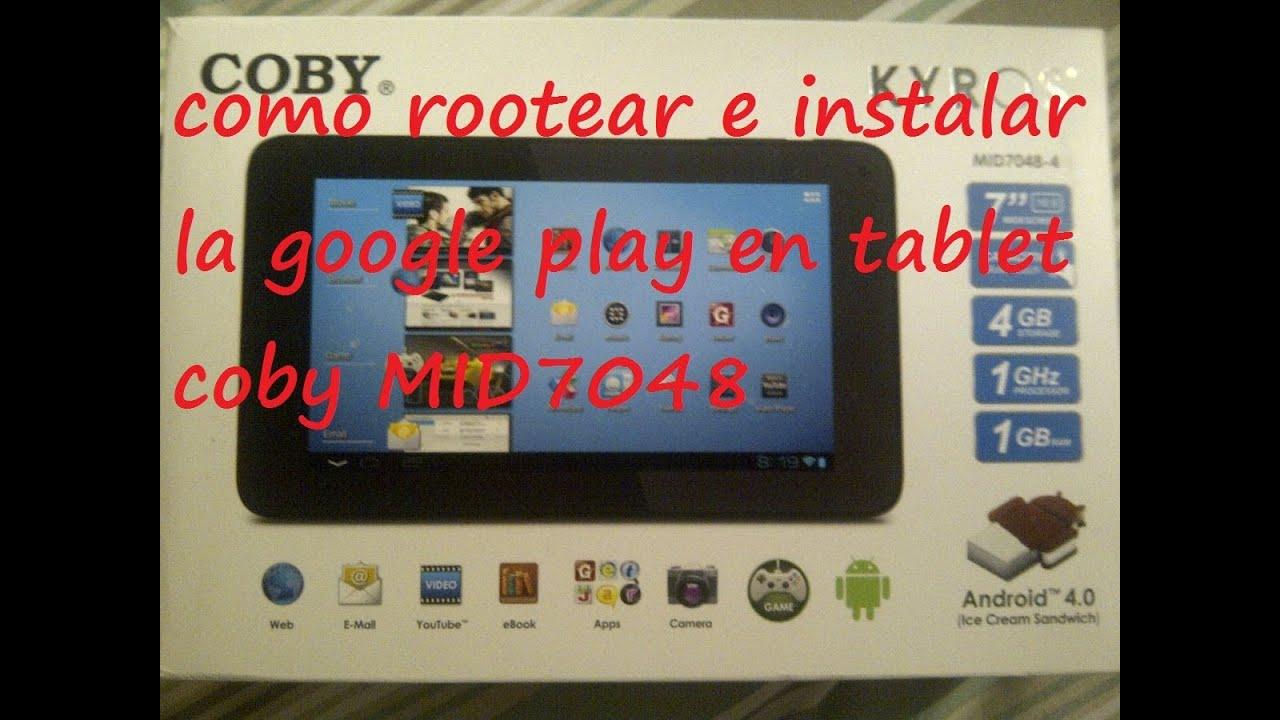 descargar play store para tablet coby kyros gratis