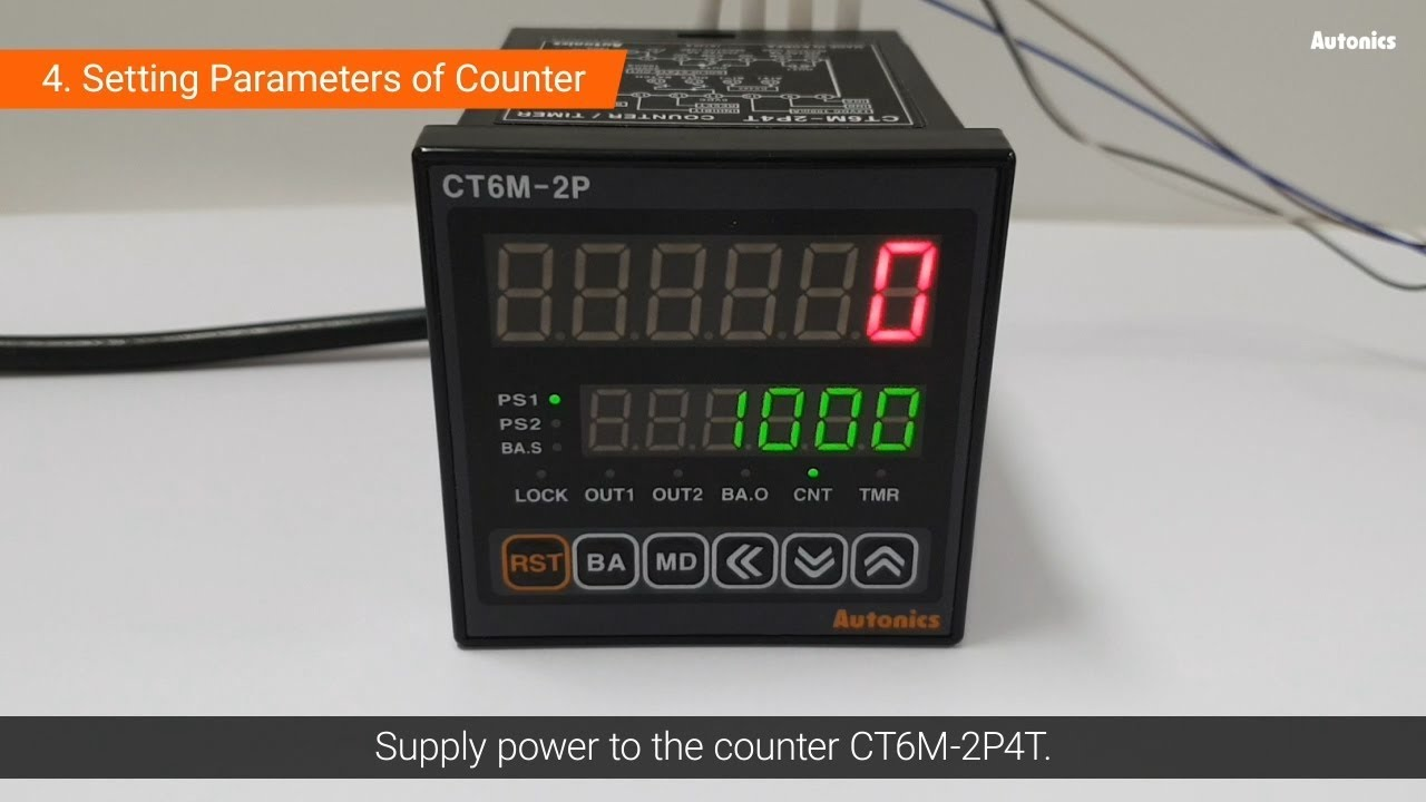 Autonics Tutorial : Using Encoder & Counter - Position Control - YouTubeYouTube