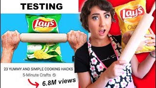 Testing 23 YUMMY AND SIMPLE COOKING HACKS by 5 Minute Crafts