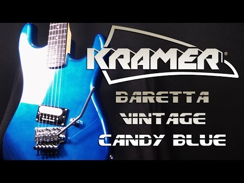 Kramer Baretta Vintage Candy Blue - Metal Sound Test - Neogeofanatic
