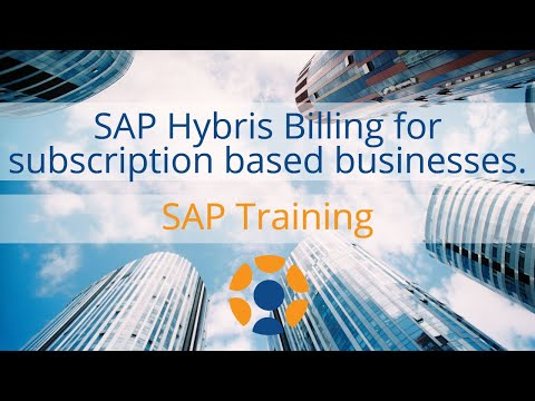 SAP Hybris Billing for Subscription Based Business Models