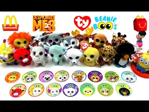 2017 McDONALD S TY TEENIE BEANIE BOO S HAPPY MEAL TOYS DESPICABLE ME 3  MOVIE MINIONS KID FULL SET 15. Happy Toy 618a10361143