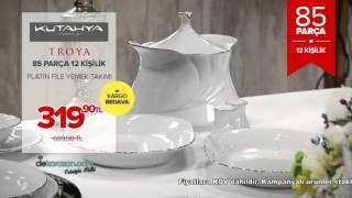 Dekorazon.com Kütahya Porselen Troya 85 Parça Yemek Takımı