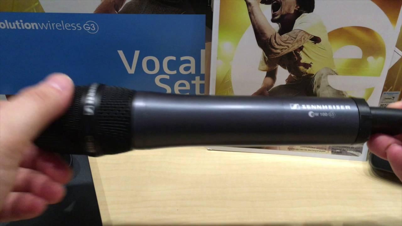 sennheiser evolution wireless ew 100 g3 uhf microphone youtube. Black Bedroom Furniture Sets. Home Design Ideas
