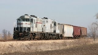 A chase of the Eastern Illinois Rail Company at Neoga Illinois. 2-7-2013