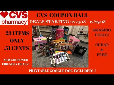 CVS Coupon Haul Deals Starting 12/23/18~23 Items Only .51 Cents ❤️Lotsof FREE & Super Cheap Products
