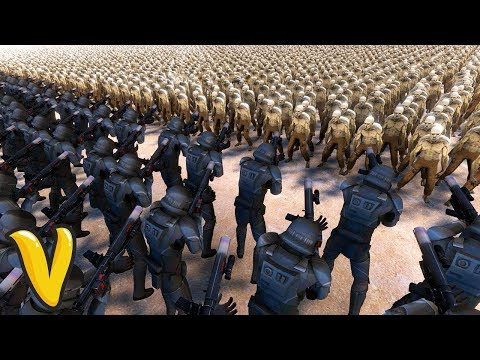 STAR WARS 100 DEATH TROOPERS VS 30000 ZOMBIES! Ultimate Epic Battle Simulator Funny Moments!