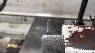 Как я затачиваю резцы. Резец для наружной упорной резьбы.
