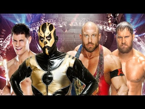 Elimination Chamber 2014 Kickoff - Cody Rhodes & Goldust vs. Ryback & Curtis Axel