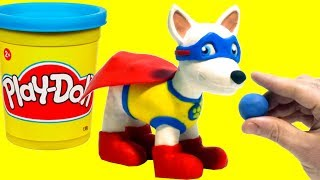 Paw Patrol Apollo the Super-Pup - Superhero Play Doh Cartoons & Stop Motion Movies for kids