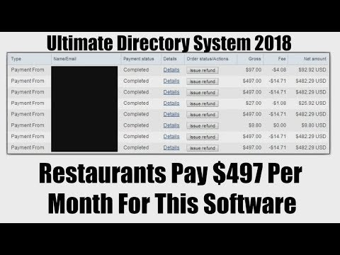 Ultimate Directory System 2018 Review Bonus - Restaurants Pay $497 Per Month For This Software