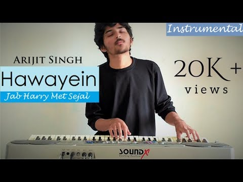 Hawayein | Jab Harry Met Sejal | Instrumental With Lyrics | Arijit Singh | Denish Shukla | 2017