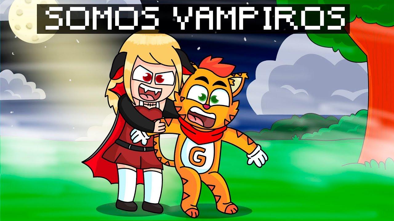 ¡MINECRAFT PERO FLOR SE CONVIERTE EN VAMPIRO! 😱 🧛♀️  | SRGATO X FLOR SON VAMPIROS POR UNA NOCHE