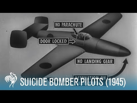 Suicide Bomber Pilots: WWII Footage (1945) | British Pathé