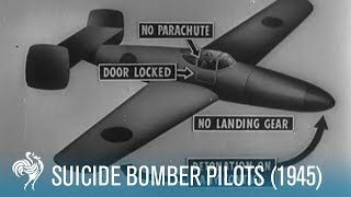 Suicide Bomber Pilots, Footage from WW2, 1945