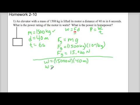 physics work and power problem hw2 10 1 youtube. Black Bedroom Furniture Sets. Home Design Ideas