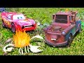 Disney Cars Mater Dreams He Is SUPER Fast & Chased By A Giant Scorpion! Lightning McQueen Toy Movie