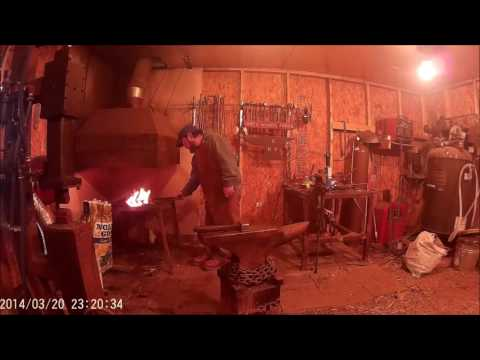 forging a christmas ornament