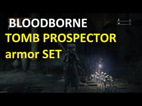 bloodborne TOMB PROSPECTOR armor SET - YouTube