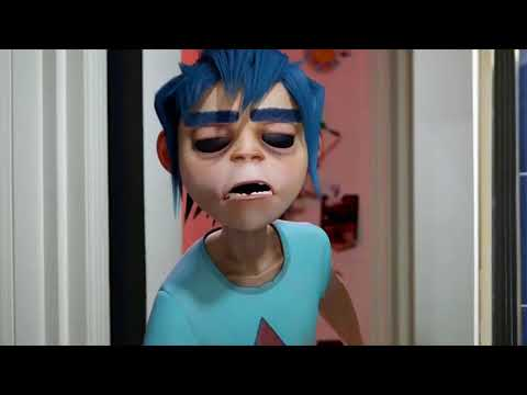 2d looking confused but with fitting music