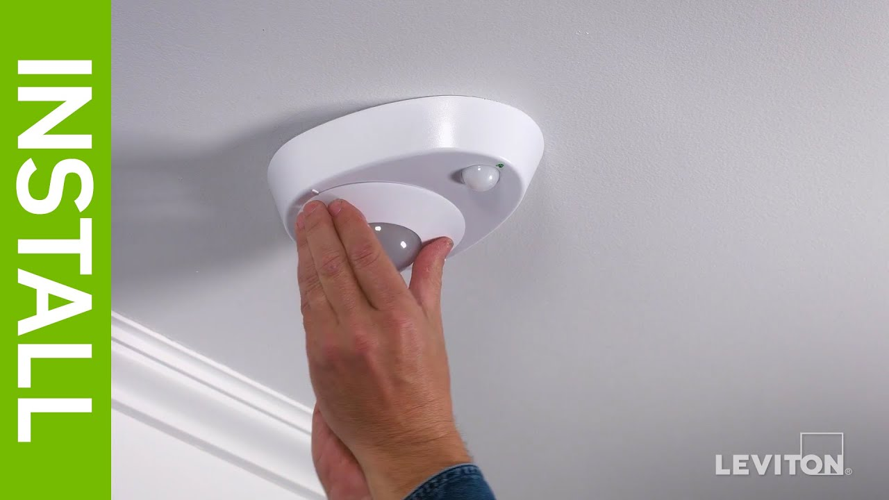Attractive Leviton Presents: How To Install The LED Ceiling Occupancy Sensor  Lampholder   YouTube