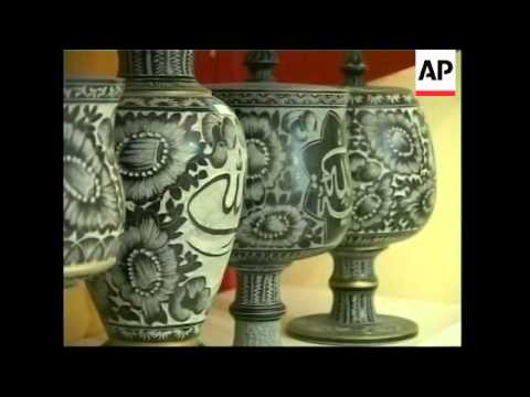 The traditional art of stone carving in Iran