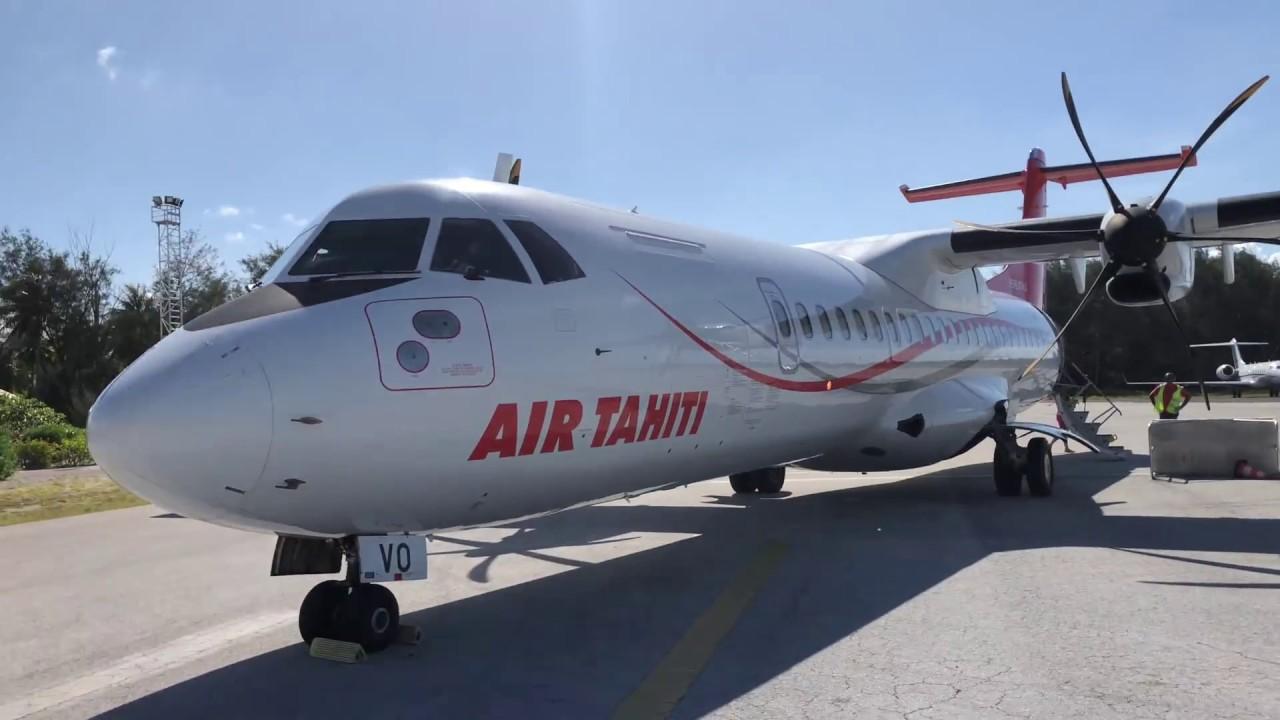 Air Tahiti Atr 72 Flight Bora Bora To Moorea Island French Polynesia