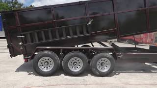Dump Trailer 7'x18' Hydraulic Ramps 4 ft Sides