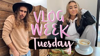 HEALTHY LUNCH, NEW WORKOUT, protein shake recipe! VLOG WEEK DAY TWO!  Julia and Hunter Havens