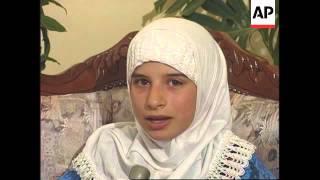 Lebanon - Girl sheds tears of glass