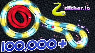 Slither.io NEW Record High Score 100,000+ With ArcadeGo Skin Slitherio Funny Moments Compilation!