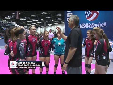 Vegas Aces Volleyball 13 BLACK  vs. Frisco Flyers 2016 GJNC Gold Medal Match 13 Amer