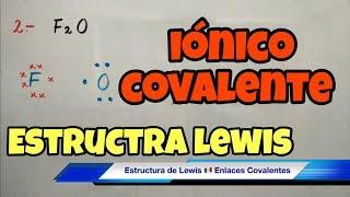 estructura de lewis paso a paso enlaces covalente inico