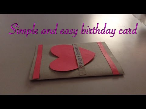 Simple And Easy Birthday Card Handmade Youtube