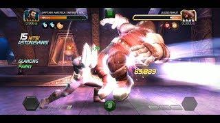 6* Captain America Infinity War vs Realm of Legends Juggernaut