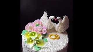 Свадебный Торт с Лебедями/Пошагово/Лебеди из мастики/Торт на свадьбу/Юлия Клочкова